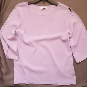 Split Sleeve Pearl Sweater